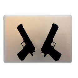 2PCS Pistol Style Notebook Sticker Creative Computer Decorative Paster