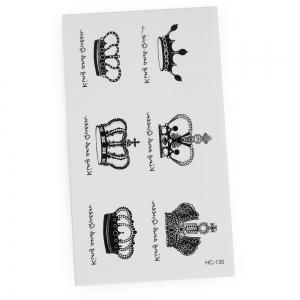 3D Crown Pattern Temporary Tattoos Stickers -