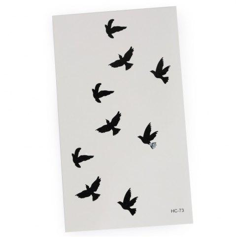 Fashion 3D Wild Goose Pattern Temporary Tattoos Stickers - AS THE PICTURE  Mobile