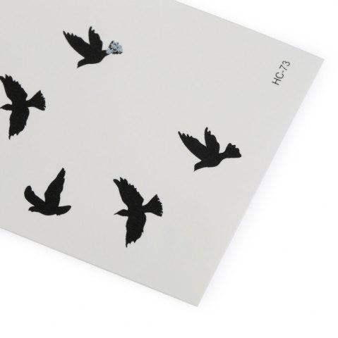 Latest 3D Wild Goose Pattern Temporary Tattoos Stickers - AS THE PICTURE  Mobile