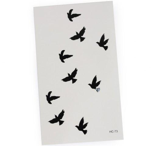 Shops 3D Wild Goose Pattern Temporary Tattoos Stickers - AS THE PICTURE  Mobile