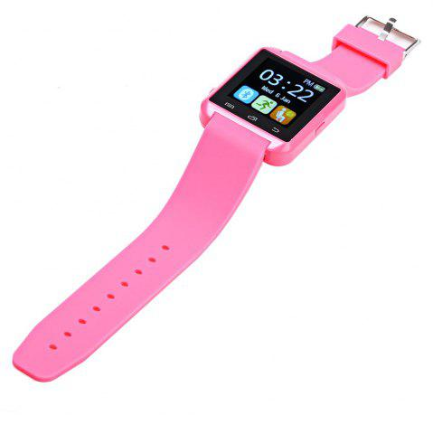 Sale U8S Smart Bluetooth Watch with Pedometer for Sport - PINK  Mobile