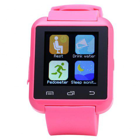 Hot U8S Smart Bluetooth Watch with Pedometer for Sport - PINK  Mobile