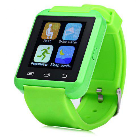Chic U8S Smart Bluetooth Watch with Pedometer for Sport - GREEN  Mobile