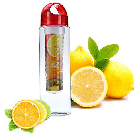 Online 700ML Colorful Fruit Juice Infusing Infuser Sport Health Lemon Bottle - RED  Mobile