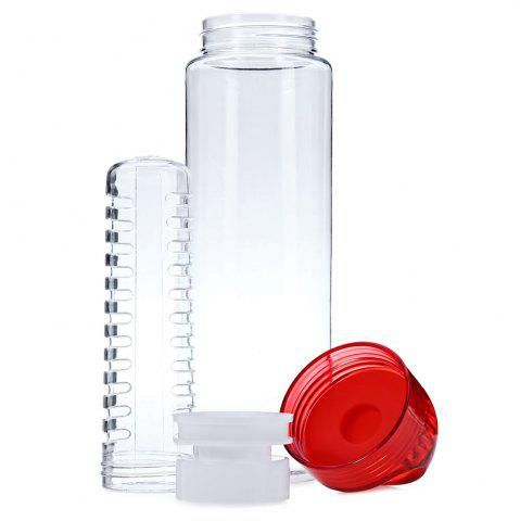 Outfits 700ML Colorful Fruit Juice Infusing Infuser Sport Health Lemon Bottle - RED  Mobile