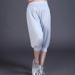 Female Cropped Exercising Yoga Bloomers with Three-dimensional Hip Cutting