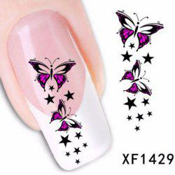 Colorful Stylish Art Sticker Tips Decoration Manicure Nail Paste - #23