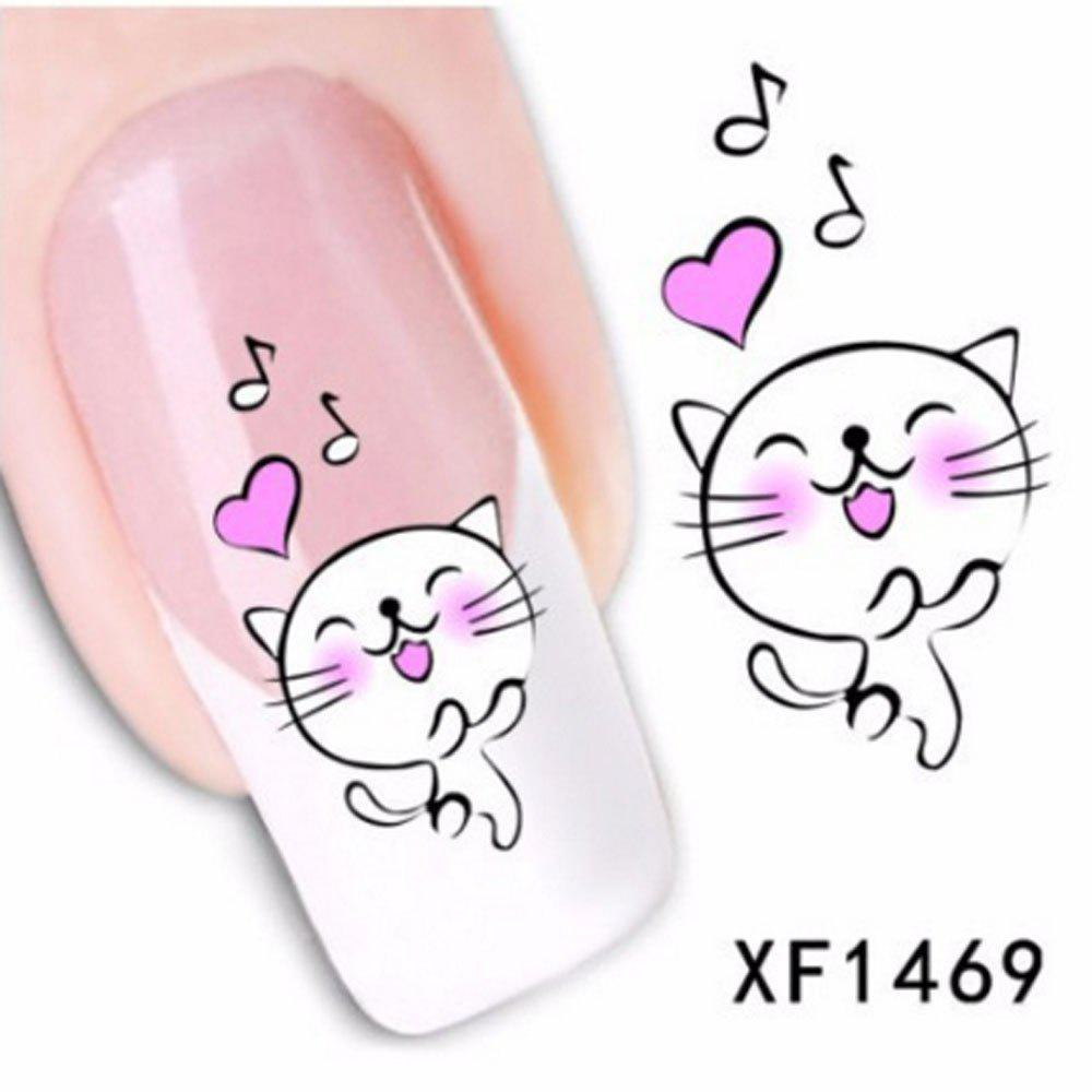 Discount Colorful Stylish Art Sticker Tips Decoration Manicure Nail Paste