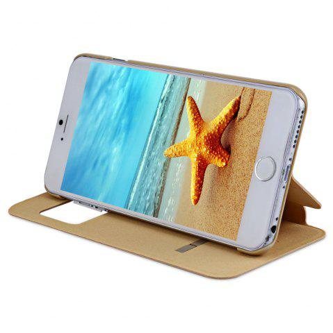 Outfit Baseus Simple Series Intelligent Window Flip PU Leather Stand Case Skin for iPhone 6 Plus / 6S Plus