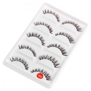Exaggerated Eye Tail Lengthening Thick Reusable Fake Eyelashes - Black - W79 Inch * L71 Inch