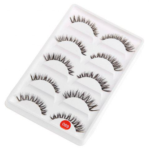 Hot Exaggerated Eye Tail Lengthening Thick Reusable Fake Eyelashes - BLACK  Mobile