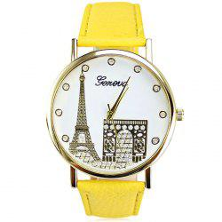 Geneva Women Diamond Quartz Watch with Golden Case