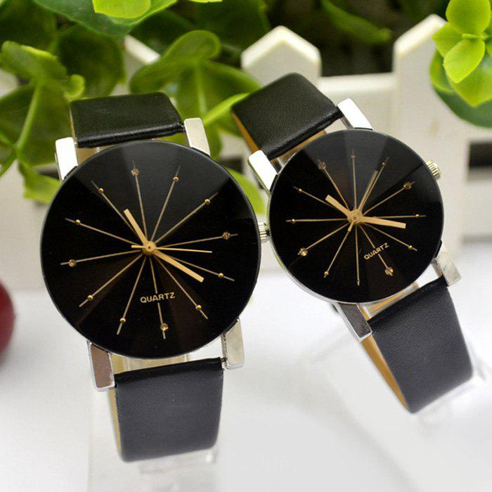 Couple Quartz Watch Diamond-shaped Mirror DESCRIPTION