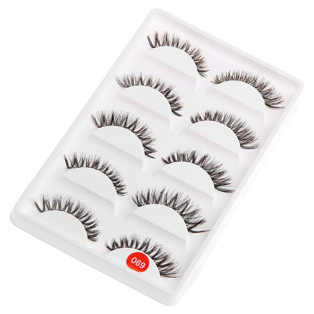 Exaggerated Eye Tail Lengthening Thick Reusable Fake EyelashesBEAUTY<br><br>Color: BLACK; Features: Soft,Lightweight,Easy to Carry; Functions: Comestic for Party;