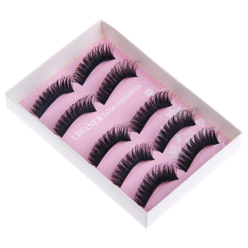 Professional Makeup Exaggerated Stage Fake EyelashesBEAUTY<br><br>Color: BLACK; Features: Soft,Lightweight,Easy to Carry; Functions: Comestic for Party;