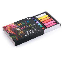 12 Colors Soft Pastels Salon Kit Fast Temporary Short Hair Dye Chalk - COLORFUL