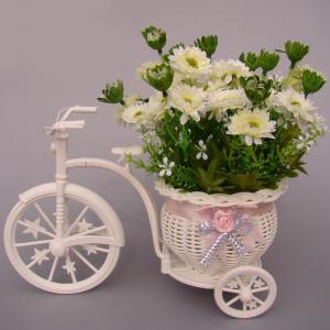 Plastic Tricycle Bike Shape Flower Basket Storage Container Party Decor -