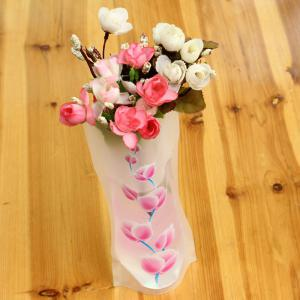 DIY Foldable PVC Vase Home Decoration Flowers Jardiniere -