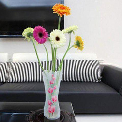 Cheap DIY Foldable PVC Vase Home Decoration Flowers Jardiniere - RANDOM COLOR  Mobile