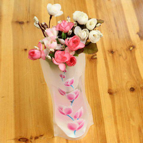 Outfit DIY Foldable PVC Vase Home Decoration Flowers Jardiniere - RANDOM COLOR  Mobile