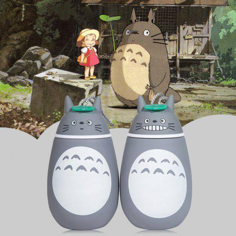 Unique Cute Totoro Shape Vacuum Water Cup Portable Stainless Steel Thermoses - 280ml - PATTERN 1 GREY AND WHITE Mobile