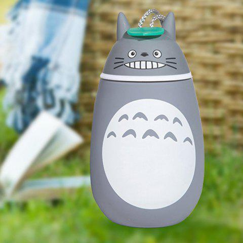 Cute Totoro Shape Vacuum Water Cup Portable Stainless Steel Thermoses - 280ml - GREY/WHITE PATTERN 2