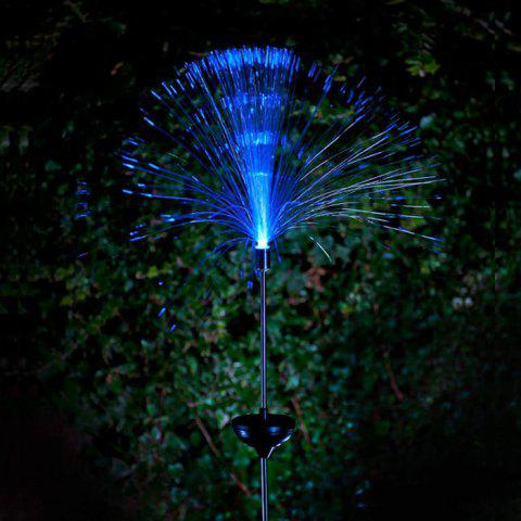 Affordable 2PCS Solar Power Fiber Garden Stake Light Color Changing Decorative Path Lamp - WHITE  Mobile
