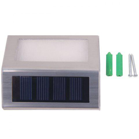 Outfit 6PCS Solar Powered Stairways Path Lamp Wireless Staircase Step Stair Light - SILVER  Mobile