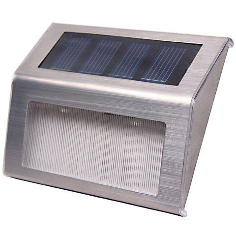 Cheap 6PCS Solar Powered Stairways Path Lamp Wireless Staircase Step Stair Light - SILVER  Mobile