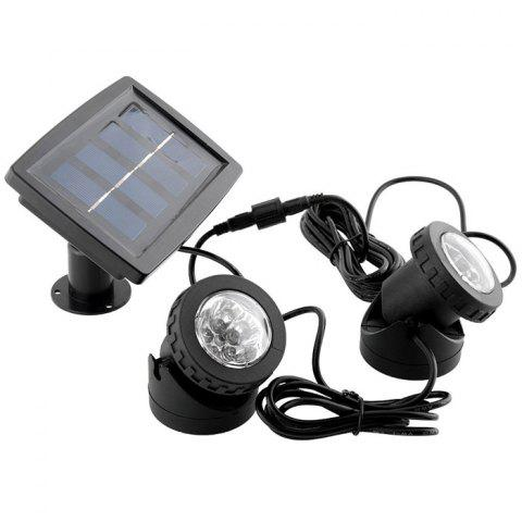 Fashion Solar Power Double Lamp Spot Floodlight Water Resistant Bright Light for Garden Yard Pool