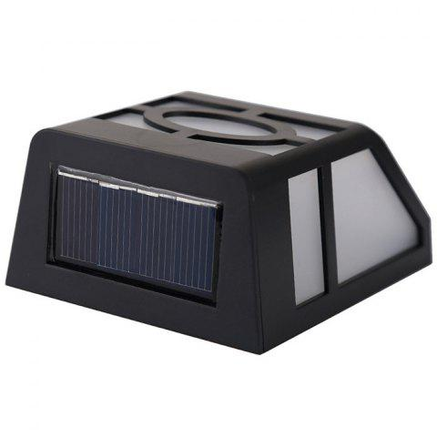 Hot Wall Mount Mission Style Solar Deck Accent Lights Warm White Lawn Lamp - BLACK  Mobile