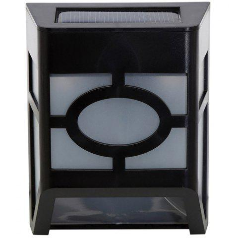 Affordable Wall Mount Mission Style Solar Deck Accent Lights Warm White Lawn Lamp - BLACK  Mobile