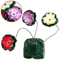 Solar Lotus LED Light Floating Pond Garden Pool Nightlight