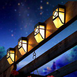 Wall Mount Mission Style Solar Deck Accent Lights Warm White Lawn Lamp -