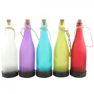 5PCS Bottle Shape Solar Power LED Lamp Party Interspersion Decoration Light -
