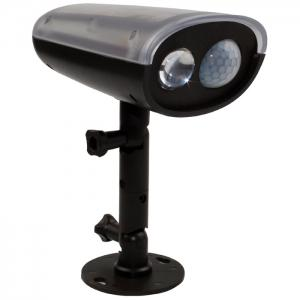 Solar Power LED Spotlight Motion Sensor Activated Security Wall Lamp for Path Garden - BLACK