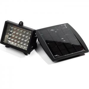 CIS-57602 Solar Powered 28 LED Spotlight Water Resistant Projection Lamp for Pool Pond Garden Path RoadLighting -