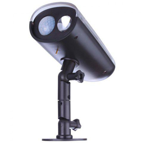 Fashion Solar Power LED Spotlight Motion Sensor Activated Security Wall Lamp for Path Garden - BLACK  Mobile
