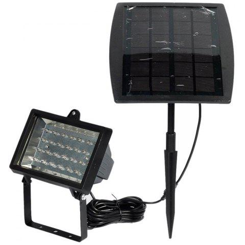New CIS-57602 Solar Powered 28 LED Spotlight Water Resistant Projection Lamp for Pool Pond Garden Path RoadLighting - BLACK  Mobile