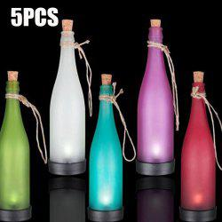 5PCS Bottle Shape Solar Power LED Lamp Party Interspersion Decoration Light