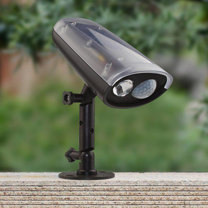 Unique Solar Power LED Spotlight Motion Sensor Activated Security Wall Lamp for Path Garden