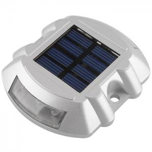 CIS-57653 Aluminum 6 LED Solar Power Dock Ground Light Garden Lamp for Outdoor Road Driveway -
