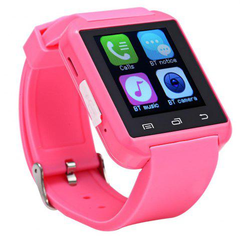 Fashion U8S Smart Bluetooth Watch with Pedometer for Sport - PINK  Mobile