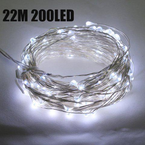 New CIS-57649 Solar Powered 22M 200 LED String Light Copper Wire Ambiance Lamp for Christmas Holiday Decoration