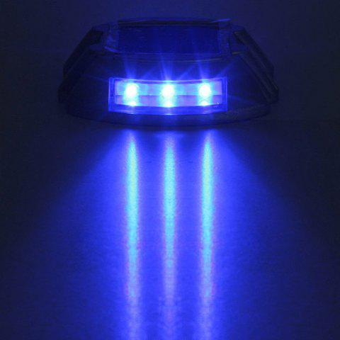 Store CIS-57653 Aluminum 6 LED Solar Power Dock Ground Light Garden Lamp for Outdoor Road Driveway - BLUE  Mobile