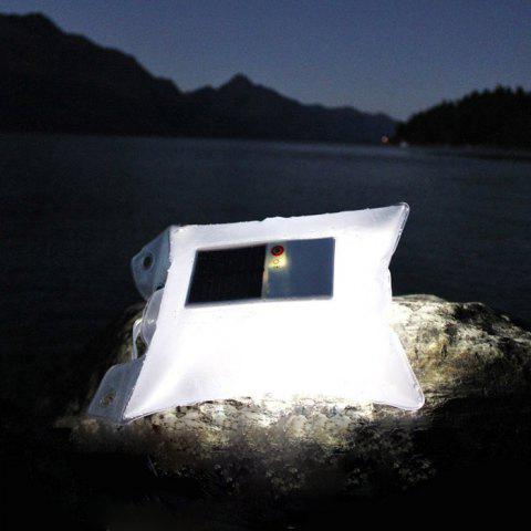 Fashion CIS-57659 Inflatable Solar Power LED Lantern Light Night Camping Outdoor Water Resistant Lamp - BLACK  Mobile