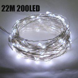 CIS-57649 Solar Powered 22M 200 LED String Light Copper Wire Ambiance Lamp for Christmas Holiday Decoration -