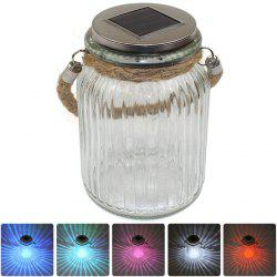 CIS-57656 Wishing Bottle Style Solar Power LED Light RGB Lamp Glass Jars Garden Decor