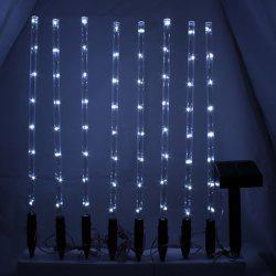 CIS-57651 8PCS Solar Power LED String Light Holiday Xmas Decoration Lamp